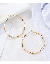 Fashion Small Gold Big Hoop Earrings