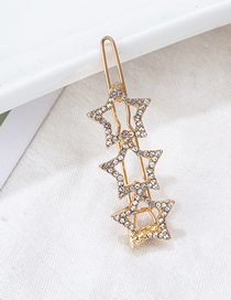 Fashion Gold Geometric Diamond-studded Hairpin Reviews
