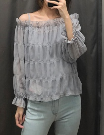 Fashion Gray Two Sets Of Chiffon Before And After