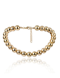 Fashion Gold Beaded Necklace