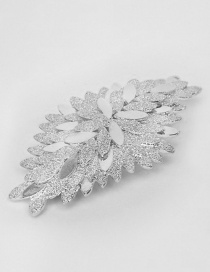 Fashion H34 Silver Petal Cascading Large Spring Clip