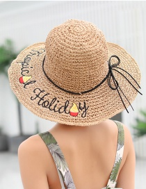Fashion Beige Woven Foldable Straw Hat