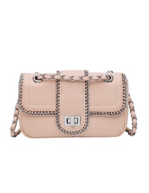 Fashion Pink Locking Chain Chain Bag