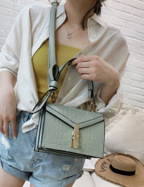 Fashion Green Wide Shoulder Strap Slung Bow Tie Shoulder Bag