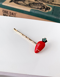 Fashion Red Alloy Carrot Hairpin