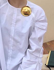 Fashion Gold Three-dimensional Round Brooch
