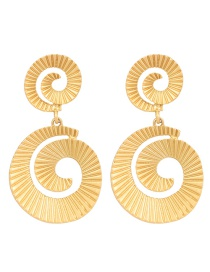 Fashion Gold Spiral Earrings