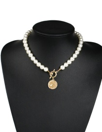 Fashion Pearl White Alloy Pearl Necklace