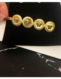 Fashion Gold Clip (glossy Face) Distressed 4 Beauty Hair Clips