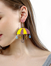 Fashion Color Small Umbrella Earrings