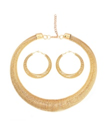 Fashion Gold Alloy Chain Necklace Set