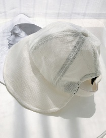 Fashion Milky White Cotton And Linen Folding Sun Hat