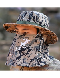 Fashion Camouflage Windproof Rope Fisherman Hat