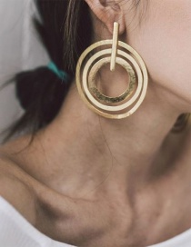 Fashion Gold Alloy Ring Earrings