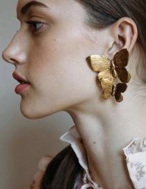 Fashion Gold Alloy Butterfly Earrings