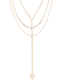 Fashion 14k Gold Plated Gold Necklace - Eyelids