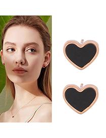 Fashion Black Titanium Steel Love Earrings