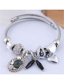 Fashion Black Metal Bracelet
