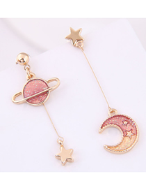 Fashion Pink Xingyue Asymmetric Earrings