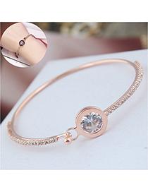 Fashion Gold Flash Diamond Zircon Bracelet