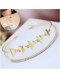 Fashion Gold Flash Drill Opening Bracelet