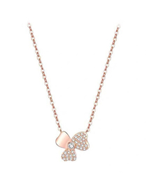Fashion Gold Copper Plated Real Gold Clover Necklace