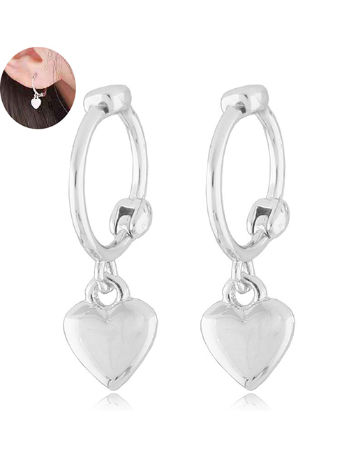 Fashion Silver Love Earrings
