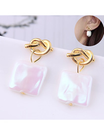 Fashion Gold Copper Plated Real Gold Shell Shell Earrings