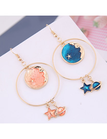 Fashion Gold Metal Star Earrings