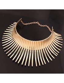 Fashion Gold Metal Mad Battle Hedgehog Styling Collar