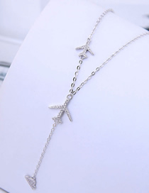 Fashion Silver Copper Plated Real Gold Airplane Necklace