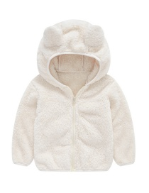 Fashion White Bear Ear Baby Boy Hoodie Jacket