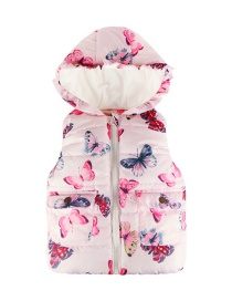 Fashion Foundation Butterfly Lace Hooded Children's Vest