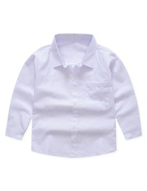 Fashion White Cotton Children's Shirt