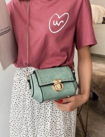 Fashion Green Rivet Cap Lock Lock Bag Shoulder Messenger Bag