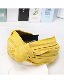 Fashion Middle Yellow Middle Headband Cloth Knotted Cross Wide Headband