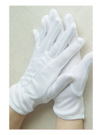 Fashion White Cotton Dispensing Non-slip Gloves