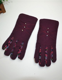 Fashion Red Wine Dispensing Non-slip Touch Screen Plus Velvet Gloves