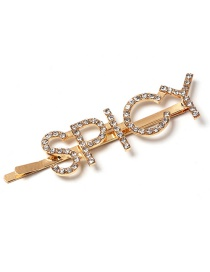 Fashion Spicy Rhinestone Diamond Letter Hairpin
