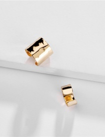 Fashion Gold Copper Fittings: Crepe: Adjustable Ear Clips: Two