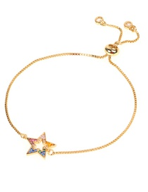 Fashion Gold Micro-inlaid Diamond Star Bracelet