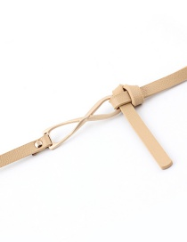 Fashion Beige Double-sided Knotted Waist Belt