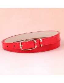 Fashion Red Japanese Word Buckle Belt