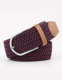 Fashion Blue Red Tightly Woven Wide Belt