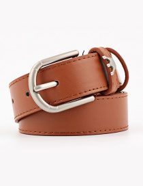 Fashion Camel Crown Alloy Pin Buckle Wide Belt