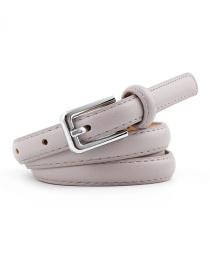 Fashion Light Purple Pin Buckle Leather Belt