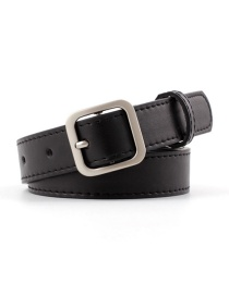 Fashion Black-silver Buckle Small Square Buckle Belt