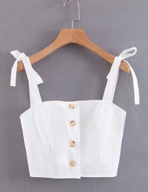 Fashion White Sling With Single-breasted Vest