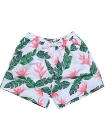 Fashion Green Printed Beach Pants