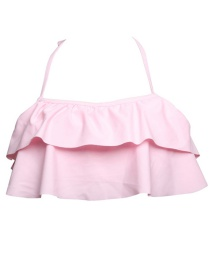 Fashion Powder Top Ruffled Children's Swimsuit